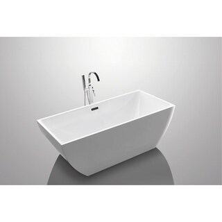 "Tarnby 60"" Rectangular Acrylic Freestanding Bathtub"