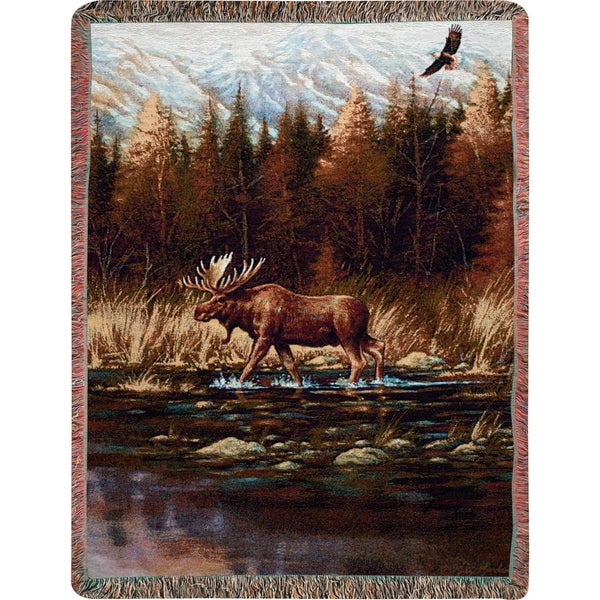 Manual Woodworkers AUTUMN MEMORIES Multi Color Tapestry Throw