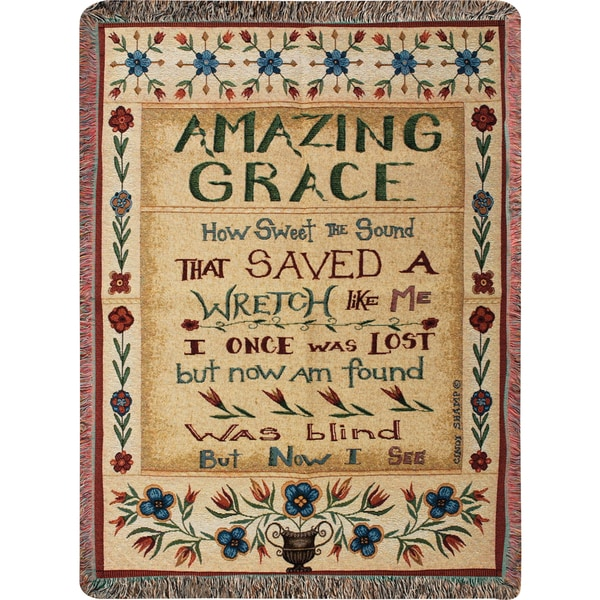 Manual Woodworkers Amazing Grace Multicolor Tapestry Throw