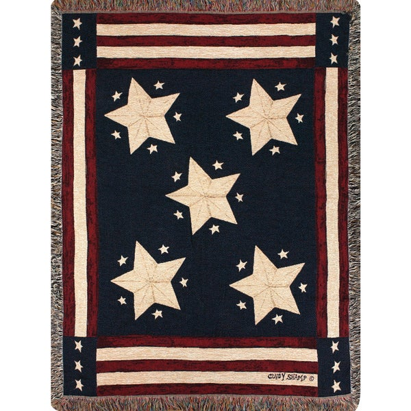 Manual Woodworkers LONG MAY IT WAVE Multicolor Tapestry Throw