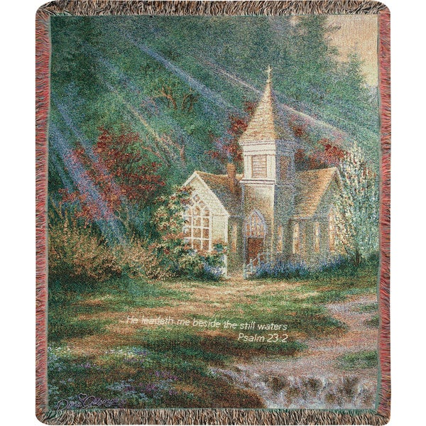 Manual Woodworkers BE STILL W/VERSE Multi Color Tapestry Throw