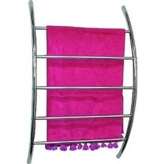 Evideco Wall Mounted Towel Rack Organizer 5 Bars Metal Chrome