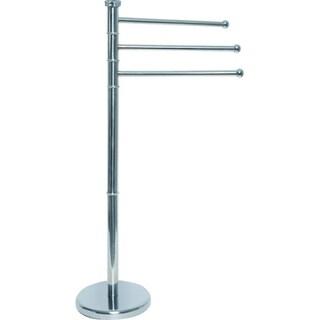 Evideco Stainless Steel Towel Rack Tree 3 Swiveling Arms Chrome Metal