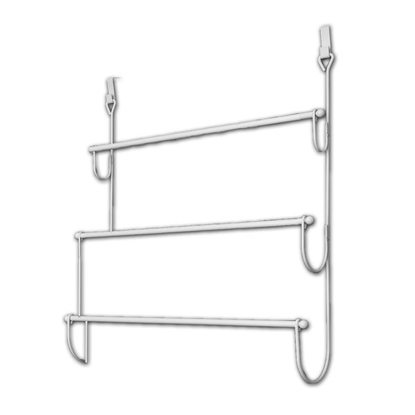 Over The Door Towel Rack Bathroom: Shop Evideco Over The Door Towel Rack Organizer 3 Bars