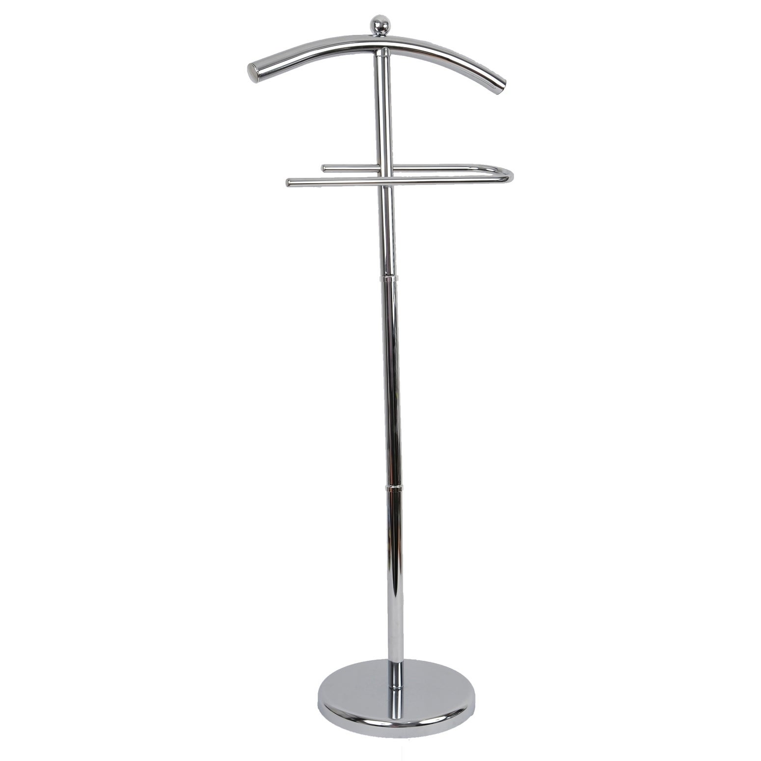 Evideco Free Standing Robe and Towel Stand Chrome Metal