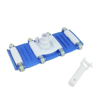 """13.5"""" Classic Blue and White Flexible Weighted In-Ground Swimming Pool Vacuum Head with Swivel"""