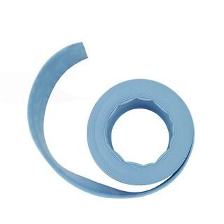 """Light Blue Swimming Pool Filter Backwash Hose - 50' x 1.5"""""""