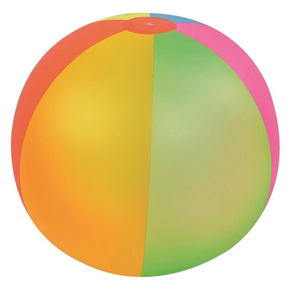 """39"""" Classic Inflatable 6-Panel Jumbo Beach Ball Swimming Pool Toy - Multi-colored"""