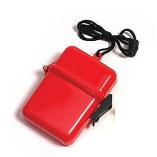 "4.5"" Red Waterproof Personal Swimming Pool Beach Accessory Case"