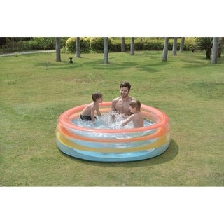 "73.5"" Vibrantly Colored Inflatable Swimming Pool with Translucent Walls - Multi-colored"