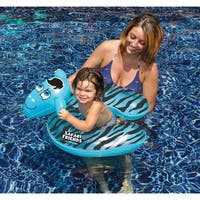 "24"" Water Sports Safari Friends Inflatable Blue Zebra Split Ring Swimming Pool Child Float"