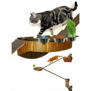 Wall Walkers Wood Starter Kit 3 Modular Cat Habitat