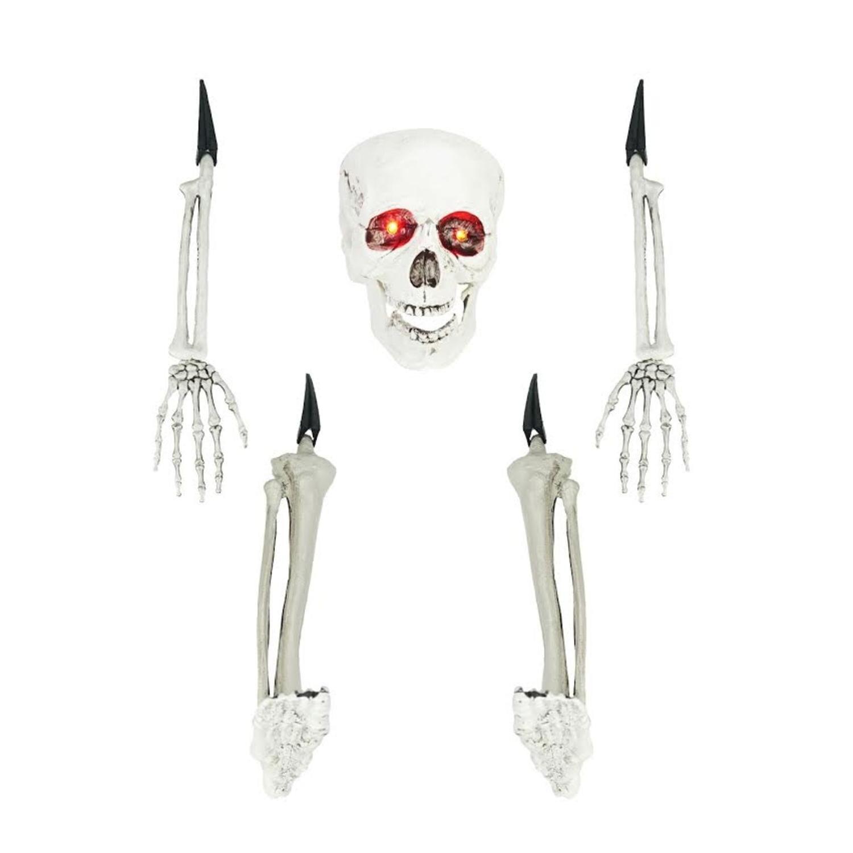 5-Piece Cream White Ground Breaking Skeleton Indoor/Outdo...