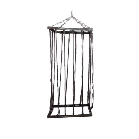 """75.5"""" Distressed Brown Life Size Cage Hanging Halloween Decoration"""