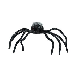 """26"""" Black and Orange Lighted Shaking Spider Halloween Decoration with Sound"""