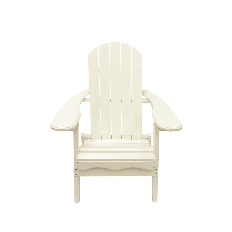 Lb International White Wood 40-inch Folding Outdoor Patio...