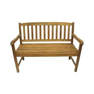 Large 3 Drawer Acacia Bench Free Shipping Today