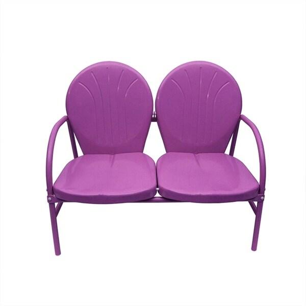 Merveilleux Purple Retro Metal Tulip 2 Seat Double Chair