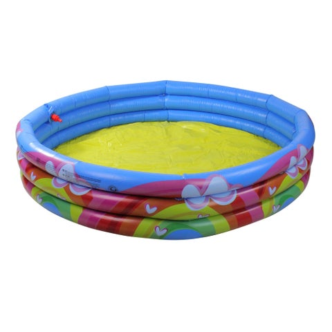 """59"""" Hearts Rainbows and Clouds Inflatable Children's Spray Swimming Pool"""