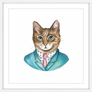 'Biz Cat' Framed Painting Print
