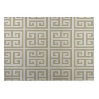 Kavka Designs Gold Infinity Keys 2' x 3' Indoor/ Outdoor Floor Mat