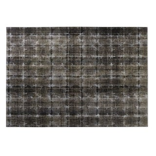 Kavka Designs Taupe Shibori 2' x 3' Indoor/ Outdoor Floor Mat
