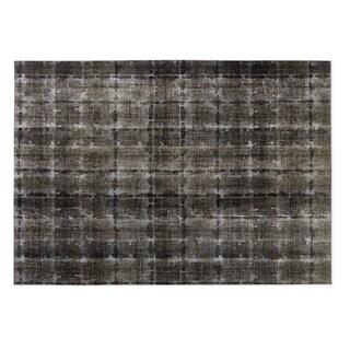 Kavka Designs Taupe Shibori 2' x 3' Indoor/ Outdoor Floor Mat