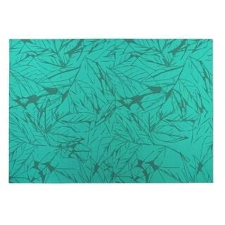 Kavka Designs Green Leaves 2' x 3' Indoor/ Outdoor Floor Mat