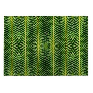 Kavka Designs Green Palm Leaf 2' x 3' Indoor/ Outdoor Floor Mat