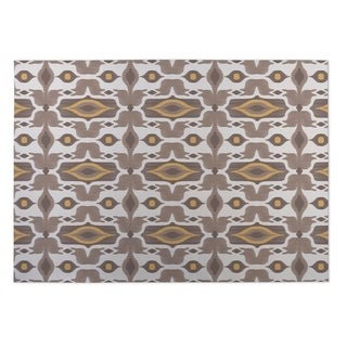 Kavka Designs Ivory/ Taupe/ Gold Mojave 2' x 3' Indoor/ Outdoor Floor Mat