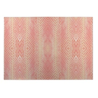 Kavka Designs Blush/ Orange Pink Orange Palms 2' x 3' Indoor/ Outdoor Floor Mat