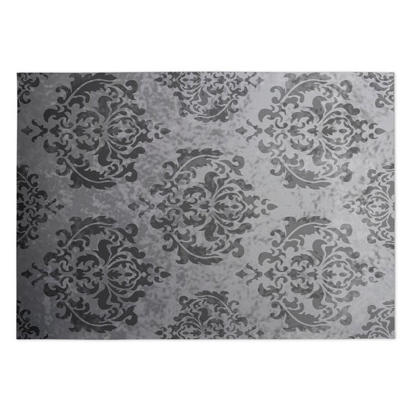 Do It Yourself Home Design: Shop Kavka Designs Grey Damask 2' X 3' Indoor/ Outdoor