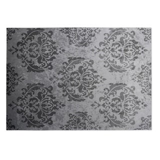 Kavka Designs Grey Damask 2' x 3' Indoor/ Outdoor Floor Mat