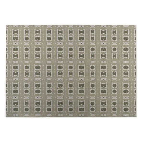 Kavka Designs Tan Crossroads 2' x 3' Indoor/ Outdoor Floor Mat