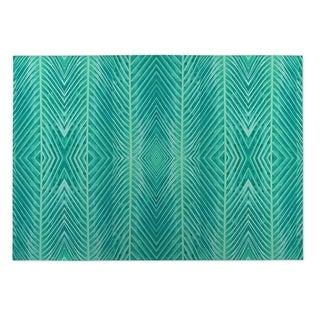 Kavka Designs Green Blue Green Palms 2' x 3' Indoor/ Outdoor Floor Mat