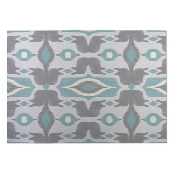 Kavka Designs Blue/ Grey/ Ivory Cosmos 2' x 3' Indoor/ Outdoor Floor Mat