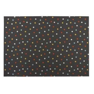 Kavka Designs Grey/ Blue/ Red/ Yellow Night Sky 2' x 3' Indoor/ Outdoor Floor Mat