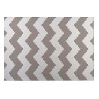 Kavka Designs Ivory/ Taupe Play Chevron 2' x 3' Indoor/ Outdoor Floor Mat