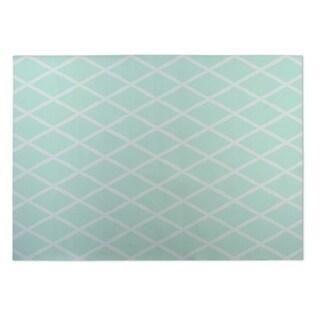 Kavka Designs Sea foam Lattice Work 2' x 3' Indoor/ Outdoor Floor Mat
