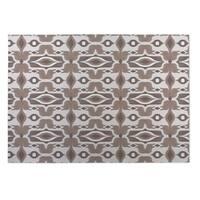 Kavka Designs Ivory/ Taupe Mojave 2' x 3' Indoor/ Outdoor Floor Mat