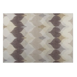 Kavka Designs Ivory/ Tan/ Taupe Chevron Motion 2' x 3' Indoor/ Outdoor Floor Mat