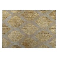 Kavka Designs Taupe/ Gold Ascent 2' x 3' Indoor/ Outdoor Floor Mat