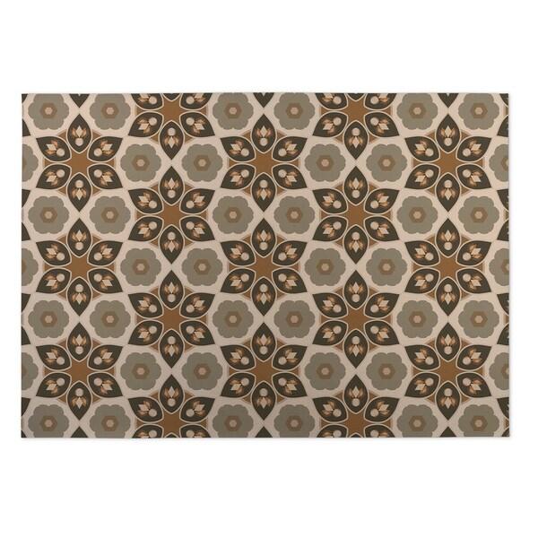 Kavka Designs Tan Origami 2' x 3' Indoor/ Outdoor Floor Mat
