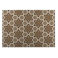 Kavka Designs Tan Origami 2' x 3' Indoor/ Outdoor Floor Mat