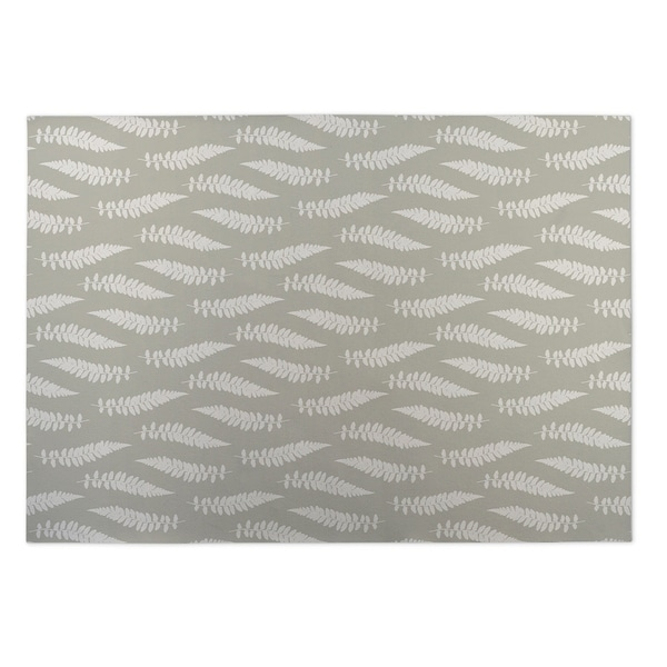Kavka Designs Ivory/ Grey Cheer Field 2' x 3' Indoor/ Outdoor Floor Mat