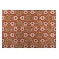 Kavka Designs Rust Origami 2' x 3' Indoor/ Outdoor Floor Mat