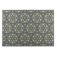 Kavka Designs Grey/ Yellow/ Green Kaleidoscope 2' x 3' Indoor/ Outdoor Floor Mat