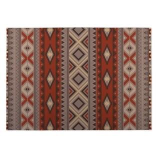 Kavka Designs Red/ Grey Santa Fe 2' x 3' Indoor/ Outdoor Floor Mat