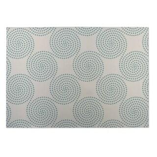 Kavka Designs Ivory/ Blue Clouds 2' x 3' Indoor/ Outdoor Floor Mat