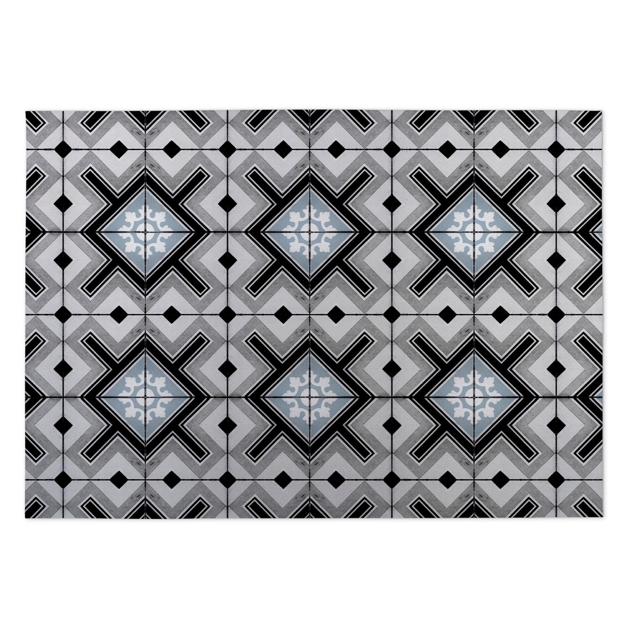 Kavka Designs Grey Tiles 2 x 3 Indoor/ Outdoor Floor Mat (Grey - N/A - Modern & Contemporary)